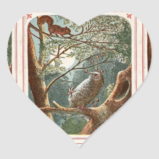 The Naughty Little Squirrel Heart Sticker