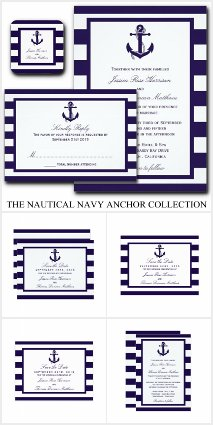 The Nautical Anchor Navy Stripe Collection