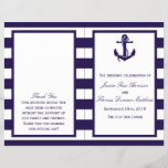 """The Nautical Anchor Navy Stripe Wedding Collection<br><div class=""""desc"""">The nautical anchor navy stripe wedding collection is perfect for any couple planning a romantic marriage by the sea.     These programs can be personalized for your special occasion and would make the perfect order of service for any wedding,  bridal shower,  engagement party,  birthday party and much,  much more.</div>"""