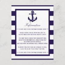 The Nautical Anchor Navy Stripe Wedding Collection Enclosure Card
