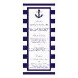 The Nautical Anchor Navy Stripe Wedding Collection Rack Card