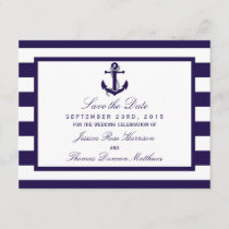 The Nautical Anchor Navy Stripe Wedding Collection Save The Date