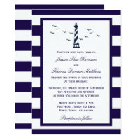 The Nautical Lighthouse Wedding Collection Invitation