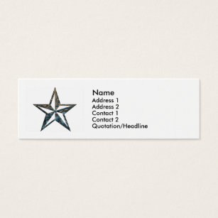 North star business cards templates zazzle the nautical star mini business card reheart Choice Image