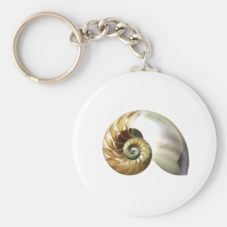 The Nautilus Shell Basic Round Button Keychain
