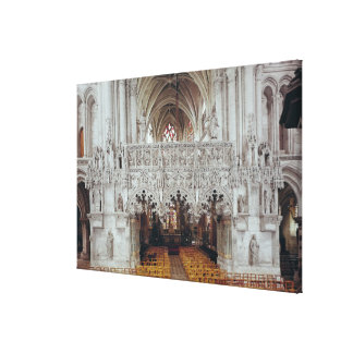 The Nave and Interior of Eglise Canvas Print