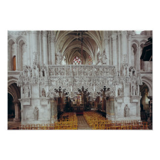 The Nave and Interior of Eglise Poster