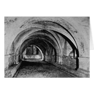The Nave of the Crypt Greeting Cards