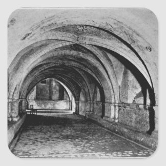 The Nave of the Crypt Square Sticker