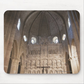 The Nave Of The Monastery Of Santa Maria De Poblet Mouse Pad