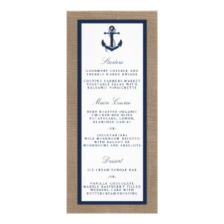 The Navy Anchor On Burlap Beach Wedding Collection Rack Cards