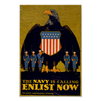 The Navy is Calling - Enlist Now Posters