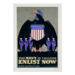 The Navy is Calling - Enlist Now (US02291A) Posters