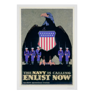 The Navy is Calling - Enlist Now (US02291A) Poster