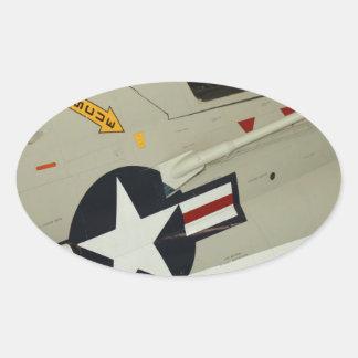 The Navy Oval Sticker