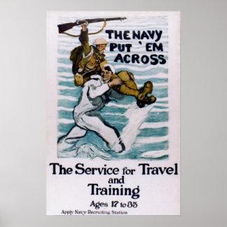 """The Navy Put 'Em Across"" Poster"