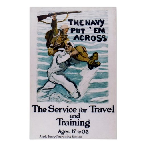 """""""The Navy Put 'Em Across"""" Posters"""