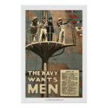 The Navy Wants Men Print