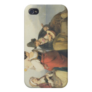 The Neapolitan Family, 1865 (oil on panel) iPhone 4/4S Cases