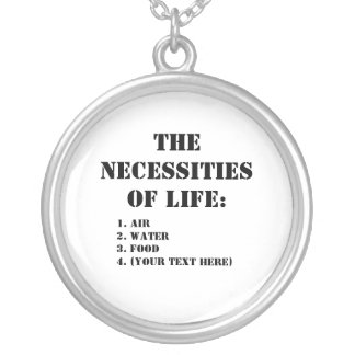The Necessities Of Life: Round Pendant Necklace