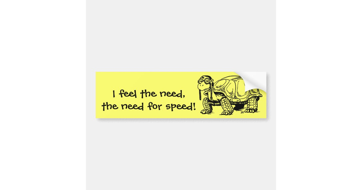 The need for speed bumper sticker zazzle com