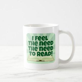 The Need to Read Classic White Coffee Mug