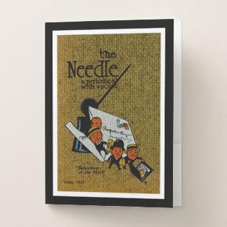 The Needle periodical illustration Pocket Folder