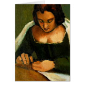 THE NEEDLE WOMAN: OLD MASTERS: CARD card