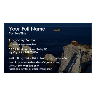 The Needles and lighthouse, Isle of Wight, U.K. Double-Sided Standard Business Cards (Pack Of 100)