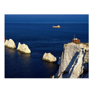 The Needles and lighthouse, Isle of Wight, U.K. Postcard