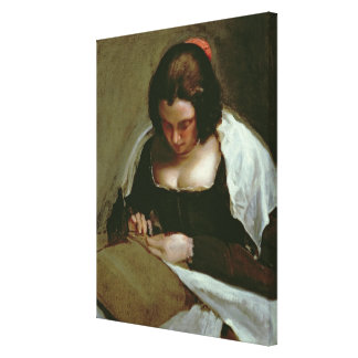 The Needlewoman, c.1640-50 Canvas Print