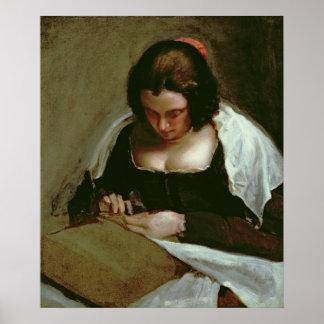 The Needlewoman, c.1640-50 Poster