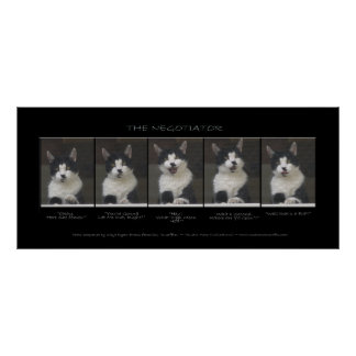 """""""THE NEGOTIATOR""""  Funny Cat Print or Poster"""