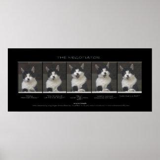 """THE NEGOTIATOR""  Funny Pet Cat Print"