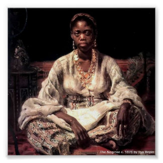 The Negress by Ilya Repin Poster