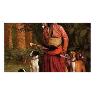 The Negro Master of the Hounds by Jean-Leon Gerome Business Card Templates