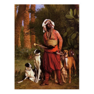 The Negro Master of the Hounds by Jean-Leon Gerome Postcards