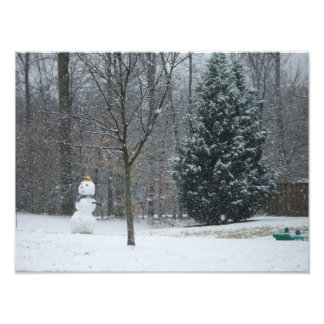 """The Neighbor's Snowman"" Photo Print"