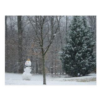 The Neighbor's Snowman Postcard