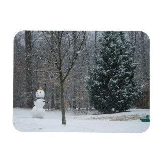 """The Neighbor's Snowman"" Premium Magnet"