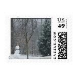 The Neighbor's Snowman Stamp