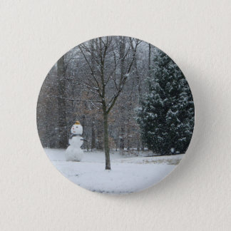 The Neighbor's Snowman Winter Snow Photography Button