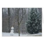 The Neighbor's Snowman Winter Snow Photography Card