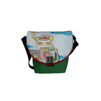 The neko Chinese soldier Messenger Bag