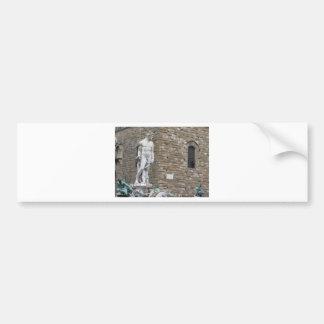The Neptune fountain and Palazzo Vecchio Bumper Sticker