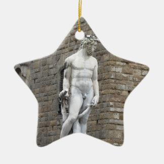The Neptune fountain and Palazzo Vecchio Ceramic Ornament