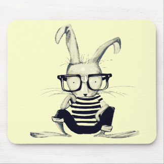 The Nerd Rabbit Mouse Pads