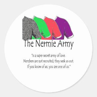 The Nermie Army Classic Round Sticker