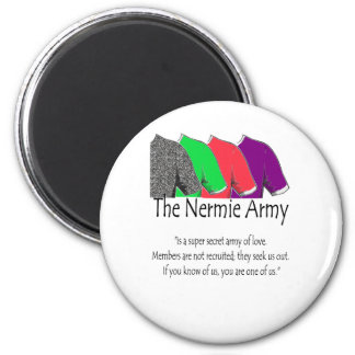 The Nermie Army Refrigerator Magnets