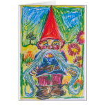 The Nest Builder Gnome Greeting Card